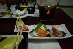 raw fish plate