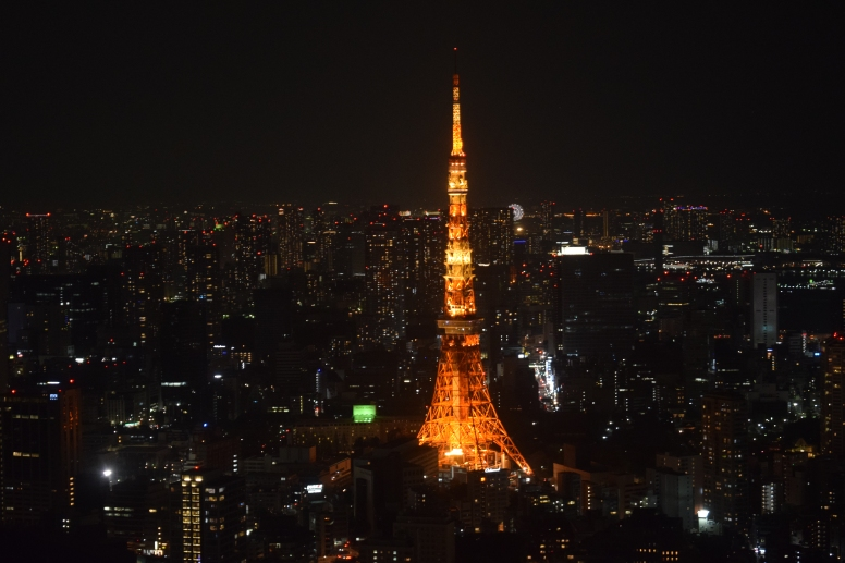 Tokyo tower from Tokyo Observatory- Roppongi complex